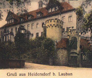 Pałac we Włosieniu Dolnym na przedwojennej niemieckiej fotografii