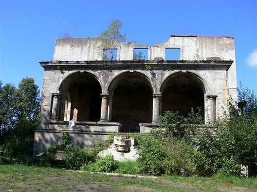 Ruiny pałacu - stan obecny