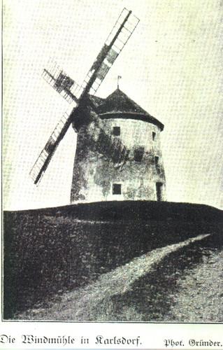 Wiatrak - na  przedwojennej fotografii